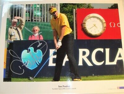 """Hand-Signed 3 X Laminated Posters Of Ian Poulter - Golfer - [16"""" X 12""""]"""