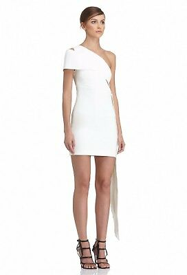 Aq aq White One Shoulder Lolita Cut Out Dress Size 10 Mini