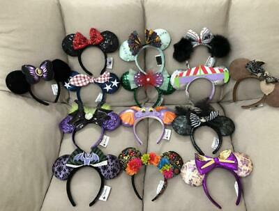 Disney Parks Minnie mickey mouse sequin Purple Aulani Gold EARS COSTUME Headband