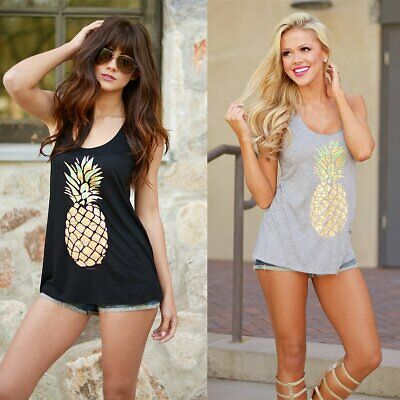 Fashion Women Summer Vest Top Sleeveless Blouse Casual Tank Tops T-Shirt Tee