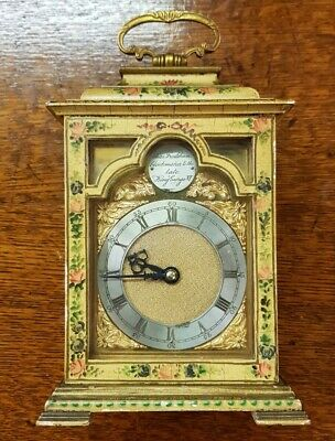 Vintage Charles Frodsham Clockmaker To The King George VI Mantel Carriage Clock