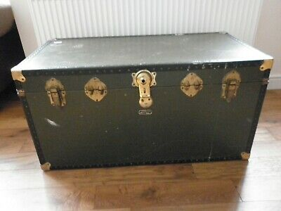 Old Vintage Mossman School / Cabin Trunk / Very Large Storage Chest