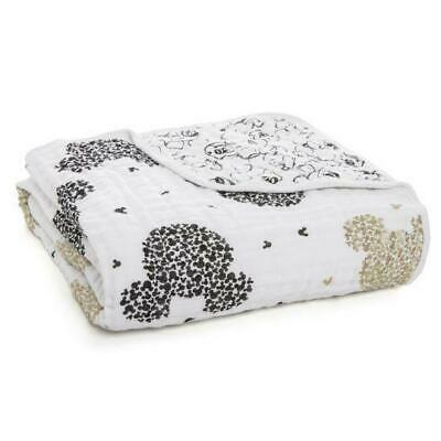 Aden + Anais Classic Dream Blanket - Mickey's 90th - Scatter Metallic