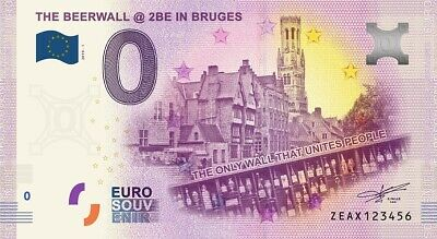 Billet Touristique 0 Euro --- BEL - The Beerwall @ 2be in Bruges - 2019-1