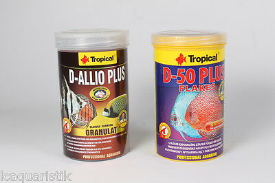 1L Tropical Discus Allio Gran + 1L Discus Escamas D 50 Plus ( 13,45€/ 1000 ML)