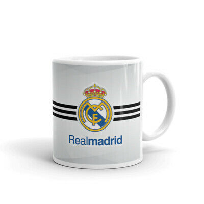 Official Real Madrid Football Club White New Mug Cup Present Novelty Gift Idea