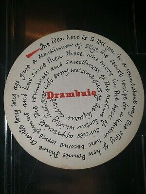 1x 1960s Drambuie Beer Mat. Good condition