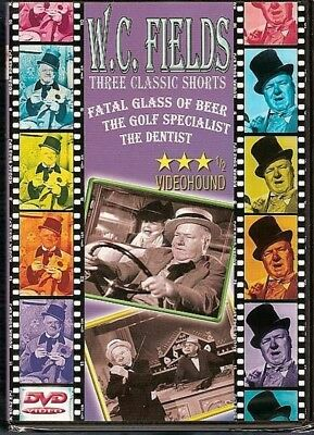 W.C. Fields 3 Classic Shorts DVD Fatal Glass of Beer Golf Specialist Dentist NEW