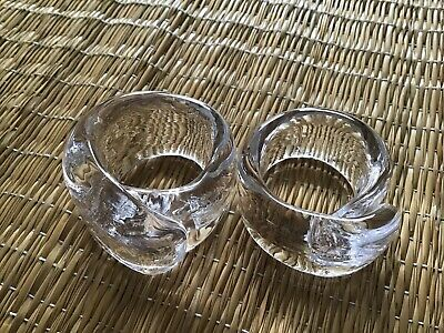 2 glass napkin rings - hand made, chunky, lovely . Preowned but not used.