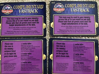 Alton towers Fastrack Priority Pass X4 For All Major Rides Except Wickerman