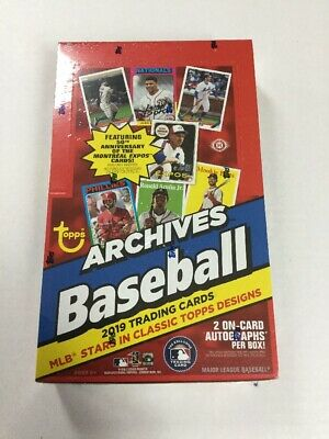 2019 TOPPS ARCHIVES BASEBALL HOBBY BOX FACTORY SEALED 2 Autos per box on average