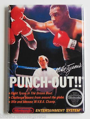 Mike Tyson Punch Out FRIDGE MAGNET (2 x 3 inches) video game box nes boxing