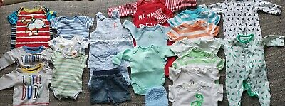 Tiny Baby / up to 1 month / Boy Clothes Bundle 22 items