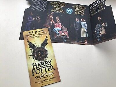 HARRY POTTER and The Cursed Child West End Flyer Palace Theatre