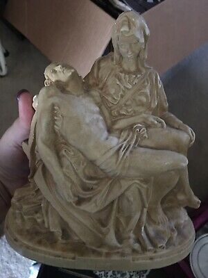 La Pieta Crucified Christ & Sorrowful Mary religious statue-Santini-Italy-carved