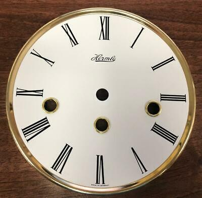 Musical Hermle Kieninger Dial Musical Wall Clock White & Brass Round Clock Dial