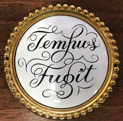 Hermle or Kieninger Clock Boss Tempus Fugit Round Dial Plaque - 55mm in Diameter