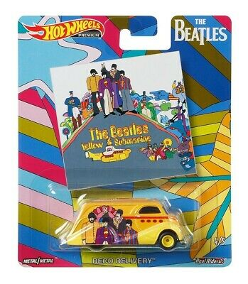 2019 Hot Wheels Beatles Pop Culture Yellow Submarine Deco Delivery