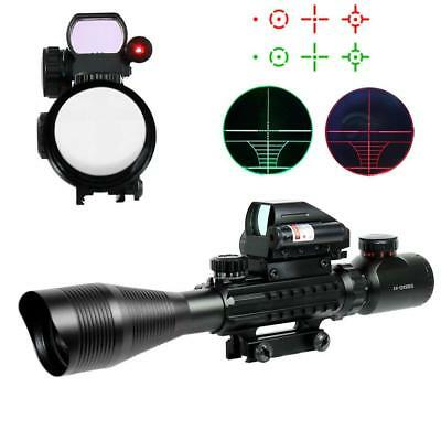 Chinoook 4-12X50 EG Tactical Rifle Scope with Holographic 4 Reticle Sight