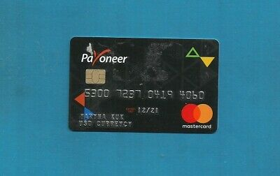 New Unsigned Usd United States Dollars Payoneer Mastercard Expires December 2021