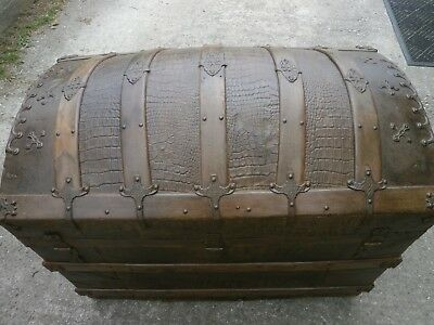 Antique domed ships trunk/chest