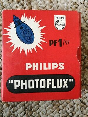 Phillips pf1/97 photoflux pack of five unused flashbulbs
