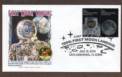 2019 - 50Th Anniversary Moon Landing ~ Graebner Chapter Cachet First Day Cover