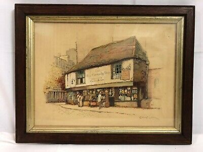 ERNEST BOYE UDEN (1911-1986) Watercolour & Pen Painting The Old Curiousity Shop