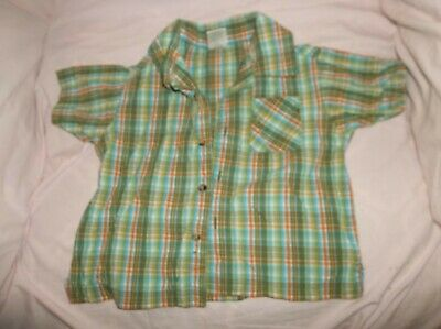 Boys Gymboree Everglades button-up shirt size 18-24 mo--GUC--green/orange/blue/w