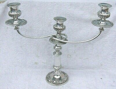 Vintage English Silver Plated Georgian Style Candelabra Candlestick