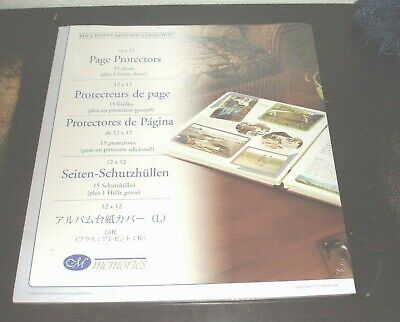 Creative Memories-12 x 12 Page Protectors-15 Sheets-Brand New