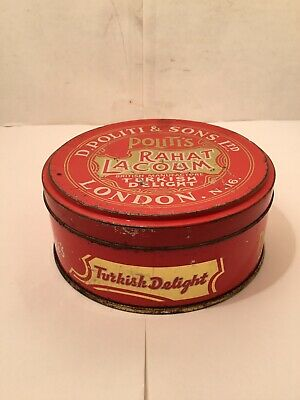 Antique Turkish Metal Turkish Delight Box