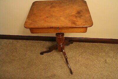 Antique George III mahogany work table /side table with a fitted draw