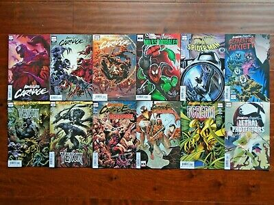 Absolute Carnage #1 Lot,Venom,Miles Morales,Scream,Deadpool,Spider-Man Variant