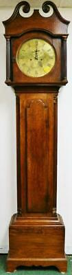 Antique English Striking Oak Cottage Longcase Grandfather Clock Thomas Edwards