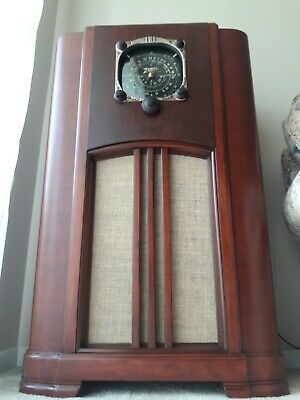 ANTIQUE ,VINTAGE, DECO ,COLLECTIBLE - OLD TUBE RADIO ZENITH 6s152 RESTORED