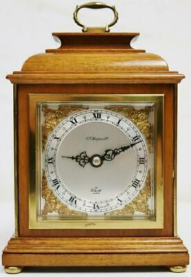 Vintage Elliott Of London Mahogany Mantel Carriage Clock Platform Escapement