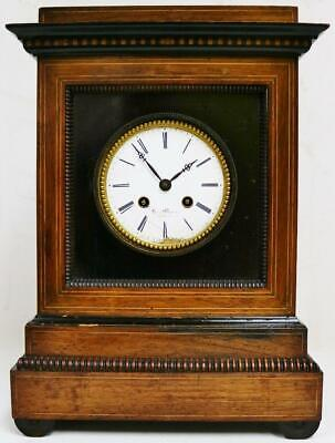 Antique French Rosewood 8Day Striking Mantel Clock Restoration Spares Or Repairs