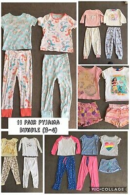 Girls Huge 11 Pair Pyjama Bundle (Age 3-4 years) M&S, Zara, Tu, George & Primark