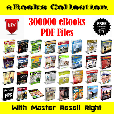 300000+more eBooks Collection | package | PDF Format | With Master Resell Rights