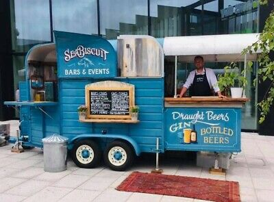 Mobile Converted Vintage Horse Box Trailer Bar Catering Weddings