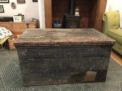 antique pine chest trunk