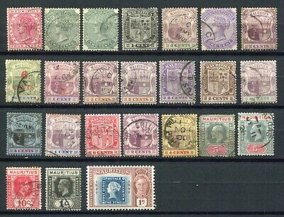 Mauritius Queen Victoria start collection of 39 stamps.