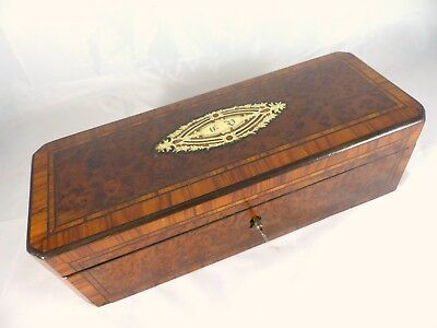 Antique French Gloves Box Casket Gants Napoleon III 1870 - BOULLE Work
