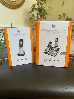 NEW AT&T DECT 6.0 B/T+ Wireless 3-Set Cordless Home Phone Telephone w/Answering