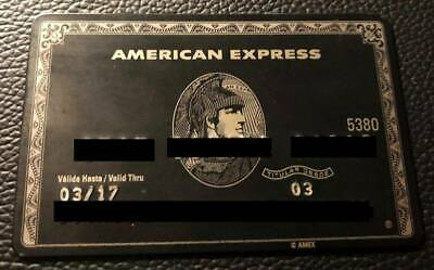 Metal Credit Card AMEX BLACK Without Chip Mexican Version Pre-Owned