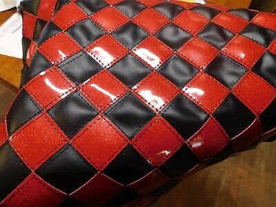 "Semi Fuel Tank Covers Checkerboard 26"" Black With Ruby Red"