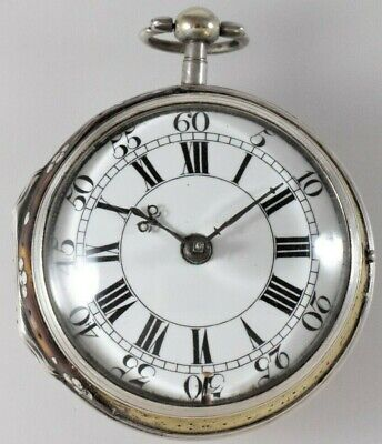 17th Cent Large Silver Tortoiseshell Verge Fusee Pocket Watch by Peter Wise 1695