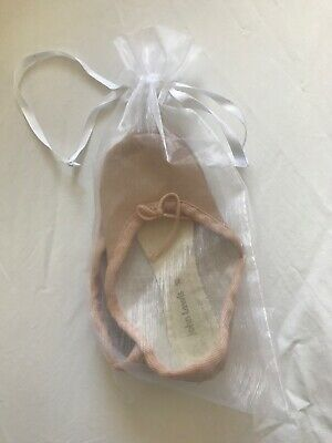 John Lewis girls pink leather ballet shoes size 12
