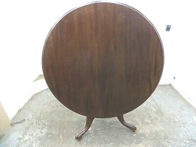 antique,victorian,mahogany,round,tilt top,circular,table,tri pod base,castors,